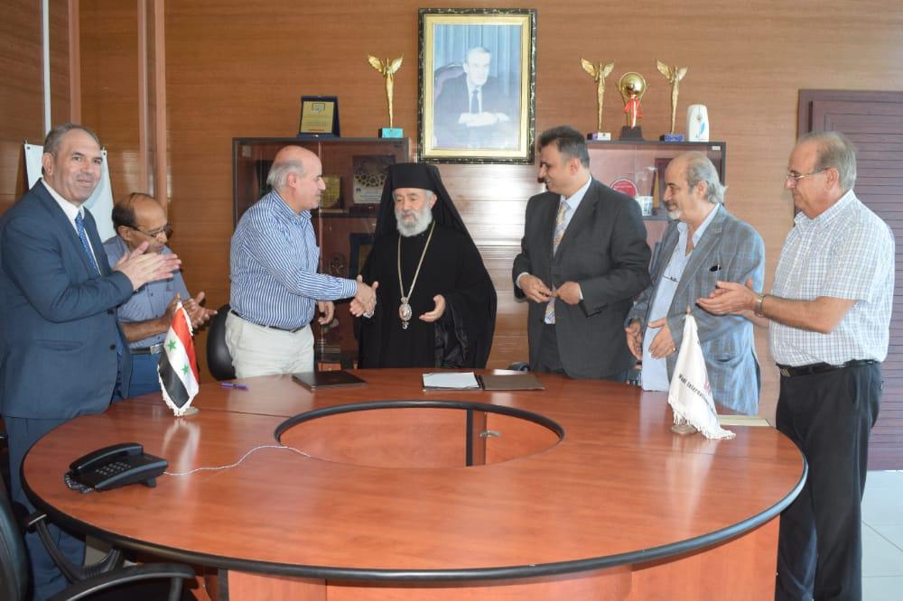 توقيع اتفاقية تعاون بين المدارس الغسانية وجامعة الوادي الدولية