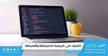التعرف على البرمجة أساسياتها وأهميتها